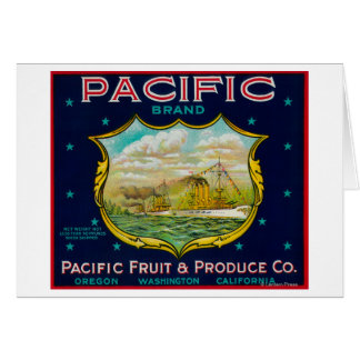 Pacific Apple Crate Label Greeting Card