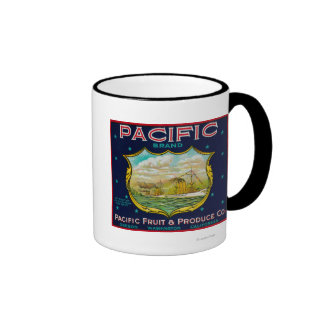 Pacific Apple Crate Label Coffee Mugs