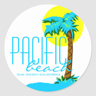 Pacific Beach- San Diego Classic Round Sticker