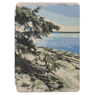 Pacific Beach woodblock style iPad Air Cover