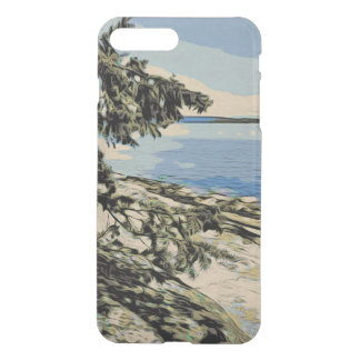 Pacific Beach woodblock style iPhone 8 Plus/7 Plus Case