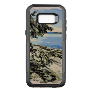 Pacific Beach woodblock style OtterBox Commuter Samsung Galaxy S8+ Case