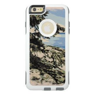 Pacific Beach woodblock style OtterBox iPhone 6/6s Plus Case