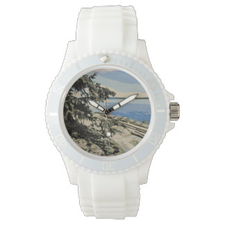 Pacific Beach woodblock style Watch