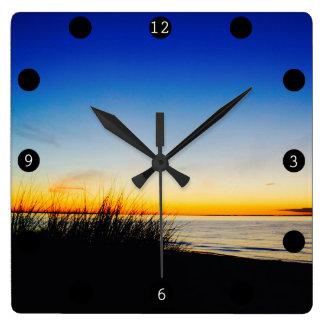 Pacific CoastBeach Square Wall Clock