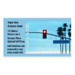 Pacific Coast Highway 1 Sign California Beach Sky Business Card Templates