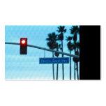 Pacific Coast Highway 1 Sign California Beach Sky Business Card Template