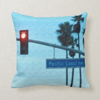 Pacific Coast Highway 1 Sign | Huntington Beach CA Cushion