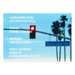 Pacific Coast Highway Sign California Beach Sky Business Cards
