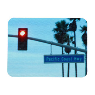 Pacific Coast Highway Sign California Beach Sky Magnet