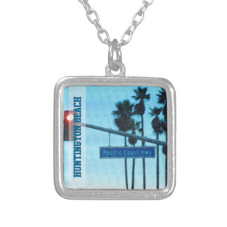 Pacific Coast Highway Sign California Beach Sky Personalized Necklace