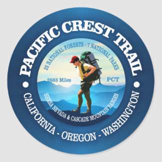 Pacific Crest Trail (Hiker C) Classic Round Sticker