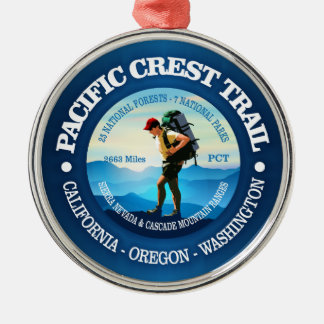 Pacific Crest Trail (Hiker C) Silver-Colored Round Decoration