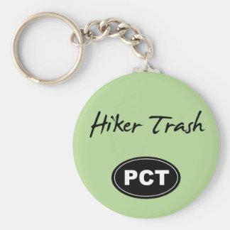 Pacific Crest Trail Hiker Trash Green Key Chain