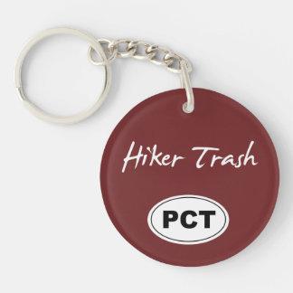 Pacific Crest Trail Hiker Trash Maroon Key Chain