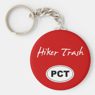 Pacific Crest Trail Hiker Trash Red Key Chain