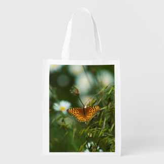 Pacific Fritillary Butterfly Reusable Grocery Bag
