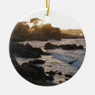 Pacific Grove Sunset Ceramic Ornament