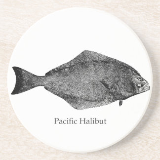 Pacific Halibut Logo Coaster