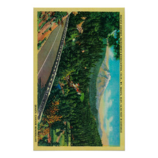Pacific Highway with Mt. Shasta in Distance Poster