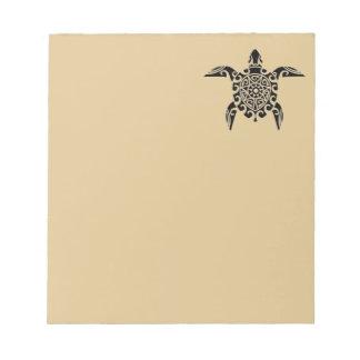 Pacific Island design tattoo Turtle Notepad