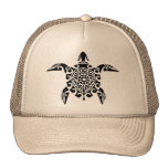 Pacific Island designed turtle Truckers hat