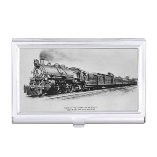 Pacific Locomotive of the Baltimore and Ohio Rail Business Card Holder