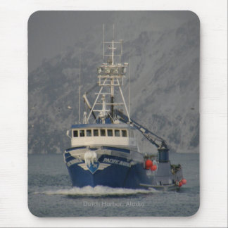 Pacific Mariner, Crab Boat in Dutch Harbor, Alaska Mouse Pad