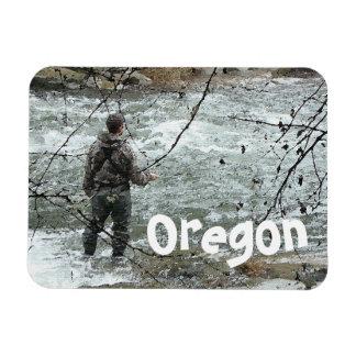 Pacific Northwest Fisherman River Oregon Magnet