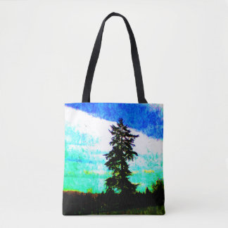 Pacific Northwest Springtime Scenery Oil Painting Tote Bag