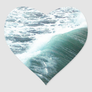 Pacific Ocean Blue Heart Sticker