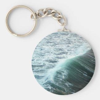 Pacific Ocean Blue Key Ring