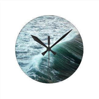 Pacific Ocean Blue Round Clock
