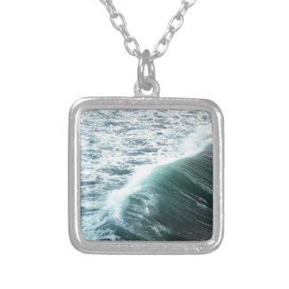 Pacific Ocean Blue Silver Plated Necklace
