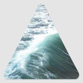 Pacific Ocean Blue Triangle Sticker