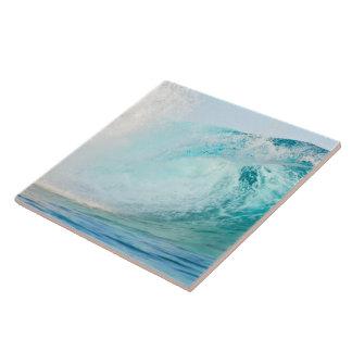 Pacific ocean blue wave breaking ceramic tile