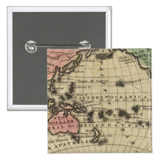 Pacific Ocean, British Islands 15 Cm Square Badge