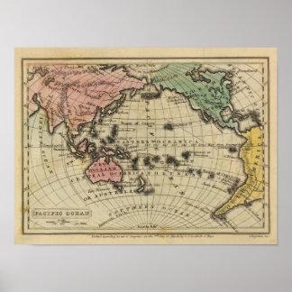 Pacific Ocean, British Islands Poster