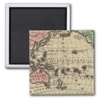Pacific Ocean, British Islands Square Magnet
