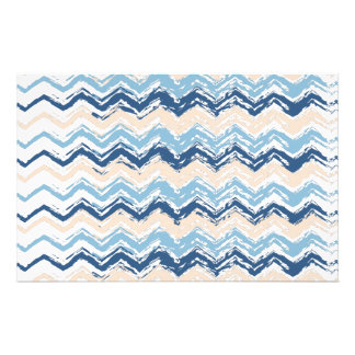 Pacific Ocean Chevron Pattern Stationery Paper