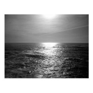 Pacific Ocean in Monochrome Postcard