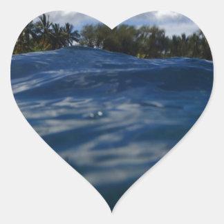 Pacific Ocean Maui Heart Sticker