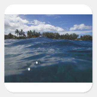 Pacific Ocean Maui Square Sticker