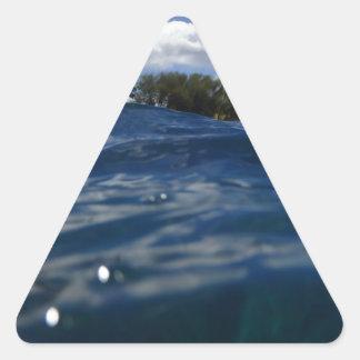 Pacific Ocean Maui Triangle Sticker