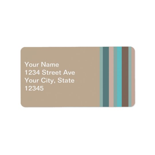 Pacific Ocean Stripes Address Label
