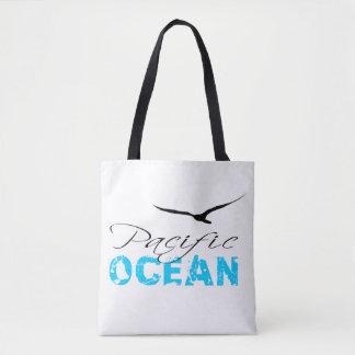 Pacific Ocean White Customizable Tote Bag