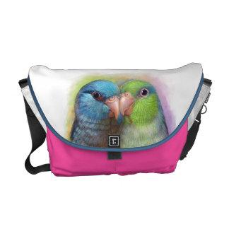 Pacific parrotlet parrot realistic painting messenger bag