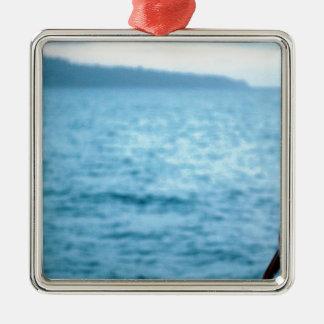 pacific pelican metal ornament
