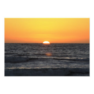 Pacific Sundown Art Photo