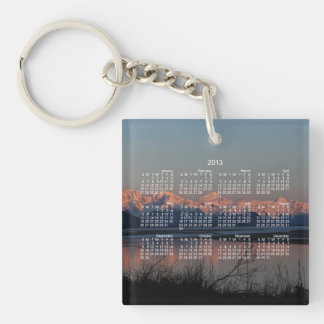 Pacific Sunset; 2013 Calendar Single-Sided Square Acrylic Key Ring